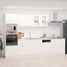 vidaXL 7 Piece Kitchen Cabinet Set White Chipboard