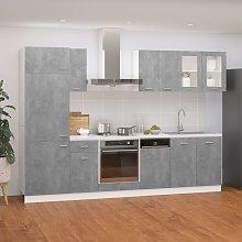 vidaXL 8 Piece Kitchen Cabinet Set Concrete Grey