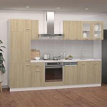 vidaXL 8 Piece Kitchen Cabinet Set Sonoma Oak