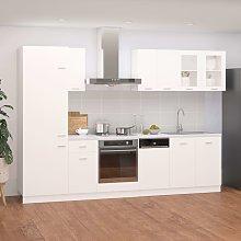 vidaXL 8 Piece Kitchen Cabinet Set White Chipboard