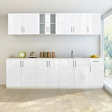vidaXL 8 Piece Kitchen Cabinet Unit High Gloss