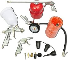 Vidaxl - Air Tool Set Kit Spray Paint Gun for