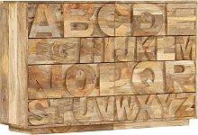vidaXL Alphabet Cabinet with 6 Drawers 120x35x79
