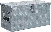 vidaXL Aluminium Box 61.5x26.5x30cm Silver Storage