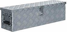 vidaXL Aluminium Box 80.5x22x22cm Silver Storage
