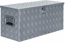 vidaXL Aluminium Box 90.5x35x40cm Silver Storage