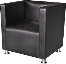 vidaXL Armchair Black Faux Leather