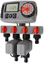 vidaXL Automatic Irrigation Timer with 4 Stations