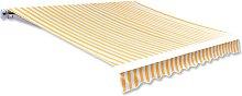 vidaXL Awning Top Sunshade Canvas Orange & White