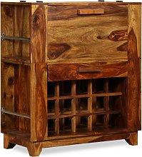 vidaXL Bar Cabinet Solid Sheesham Wood 85x40x95 cm
