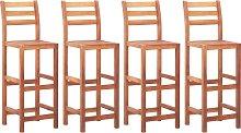 vidaXL Bar Chairs 4 pcs Solid Acacia Wood