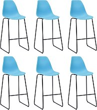 vidaXL Bar Chairs 6 pcs Blue Plastic
