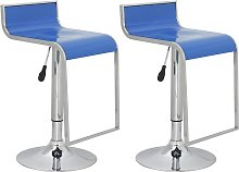 vidaXL Bar stool low back blue ABS-plastic (set of