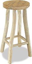 vidaXL Bar Stool Solid Teak Wood