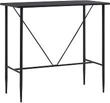 vidaXL Bar Table 120x60x110 cm MDF Black - Black