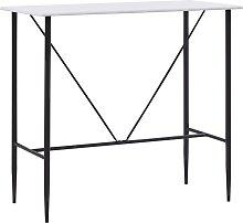 vidaXL Bar Table 120x60x110 cm MDF White - White