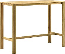 vidaXL Bar Table 140x60x110 cm Impregnated Pinewood