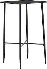 vidaXL Bar Table 60x60x111 cm MDF Black - Black