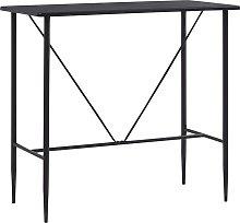 vidaXL Bar Table Black 120x60x110 cm MDF