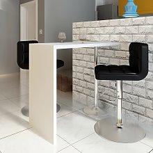 vidaXL Bar Table MDF with 1 Steel Leg High Gloss