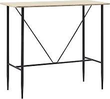 vidaXL Bar Table Oak 120x60x110 cm MDF