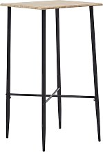 vidaXL Bar Table Oak 60x60x111 cm MDF