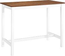 vidaXL Bar Table Solid Wood 108x60x91 cm