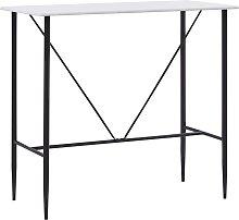 vidaXL Bar Table White 120x60x110 cm MDF