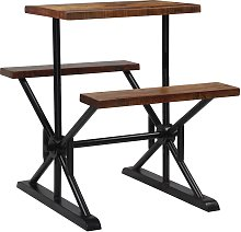 vidaXL Bar Table with Benches Solid Reclaimed Wood