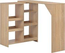 vidaXL Bar Table with Moveable Shelf Oak