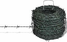 vidaXL Barbed Wire Entanglement Wire Green Wire