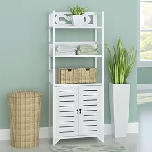 vidaXL Bathroom Cabinet Albuquerque Wood White
