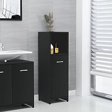 vidaXL Bathroom Cabinet Black 30x30x95 cm Chipboard