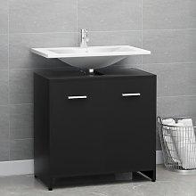 vidaXL Bathroom Cabinet Black 60x33x58 cm Chipboard