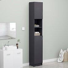 vidaXL Bathroom Cabinet Grey 32x25.5x190 cm