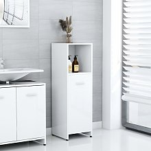 vidaXL Bathroom Cabinet High Gloss White 30x30x95
