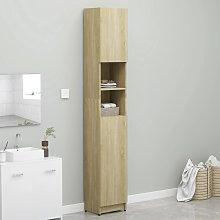 vidaXL Bathroom Cabinet Sonoma Oak 32x25.5x190 cm