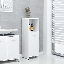 vidaXL Bathroom Cabinet White 30x30x95 cm Chipboard