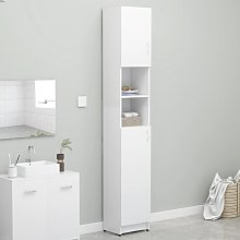 vidaXL Bathroom Cabinet White 32x25.5x190 cm