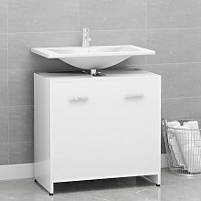 vidaXL Bathroom Cabinet White 60x33x58 cm Chipboard