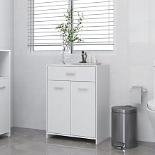 vidaXL Bathroom Cabinet White 60x33x80 cm Chipboard