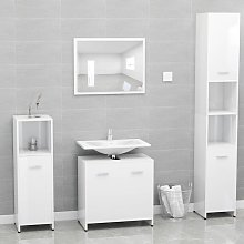 vidaXL Bathroom Furniture Set High Gloss White