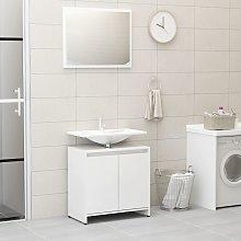 vidaXL Bathroom Furniture Set High Gloss White