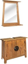 vidaXL Bathroom Furniture Set Recycled Solid Recycled Pinewood