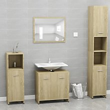 vidaXL Bathroom Furniture Set Sonoma Oak Chipboard