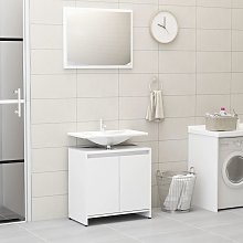 vidaXL Bathroom Furniture Set White Chipboard
