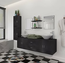 vidaXL Bathroom Furniture Set with Basin with Tap