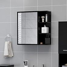 vidaXL Bathroom Mirror Cabinet Black 62.5x20.5x64