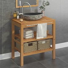 vidaXL Bathroom Vanity Cabinet Solid Teak with