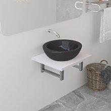 vidaXL Bathroom Wall Shelf for Basin White